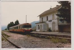 68 - KRUTH - CARTE PHOTO - TRAIN SNCF - LIGNE MULHOUSE A KRUTH - France