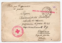 WWII 23.10.1941.YUGOSLAVIA,BELGRADE TO BOGLIACO,ITALY,TO SERBIAN PWO,CENSORED,RED CROSS BELGRADE SECTION,CENSORED LETTER - Serbia