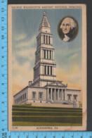 - NAlexandria Virginia - G. Washington, Masonic Memorial ,  - PubCapitol Souvenir - Postcards Cartes Postales - Alexandria
