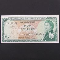 Iles Caraibes, 5 Dollars ND 1965, XF-UNC - Caraibi Orientale