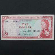 Iles Caraibes, 1 Dollar ND 1965, VF - Caraibi Orientale
