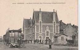 DPT 35 RENNES La Gare Centrale Des Tramways Départementaux CPA  TBE - Rennes