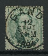 OCB 13 Stempel GAND.  LUXE! - 1863-1864 Medaillen (13/16)
