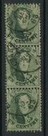 OCB 13 Strip Van 3 / Bande De 3. - 1863-1864 Medaillons (13/16)