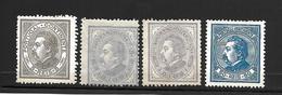 Portugal 1880 - D. Luís . De Perfil - Serie Completa Afinsa 52/55 - 1862-1884 : D.Luiz I
