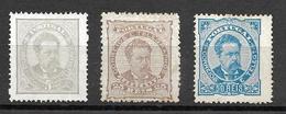 Portugal 1882 - D. Luís I . De Frente - Serie Completa Afinsa 56/58 - 1862-1884 : D.Luiz I