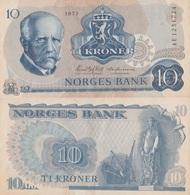 Norway / 10 Kroner / 1973 / P-36(b) / AUNC - Norvegia
