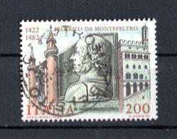 ITALIA -  Federico Da Montefeltro  -  £. 200  USATO  -  10.09.1982 - 1981-90: Afgestempeld
