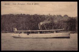 "BARDEZ India Portuguesa - Vista De Betim. BARCO / SHIP ""Infante D.Affonso"". Postal Edição Cristovam Fernandes. PORTUGAL - Indien"