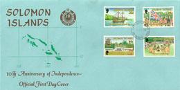 Solomon Islands - 1988 - FDC - ( National Independence, 10th Anniv.) - Salomon (Iles 1978-...)