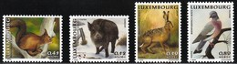 2001 Luxembourg Indigenous Wildlife: Red Squirrel, Wild Boar, Hare, Wood Pigeon Set (** / MNH / UMM) - Unclassified