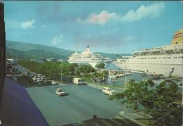 """Papeete - La Fontaine De Papeete - Destination Suisse En 1979, Timbre """"Monowai """"30F - Polynésie Française"""