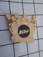 616a  Pin's Pins / Beau Et Rare / THEME : SPORTS / BANQUE DE FRANCE ASBF BOWLING CLUB CHAMALIERES Par BERAUDY - Bowling