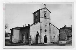 (RECTO / VERSO) DOMREMY EN 1947 - N° 10 - L' EGLISE - CACHET HEXAGONAL POINTILLE - FORMAT CPA VOYAGEE - Domremy La Pucelle