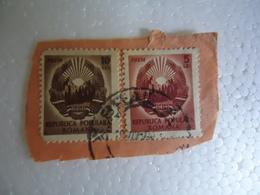 ROMANIA  POSTMARKS ON PAPER  STAMPS 2 OLD - Poststempel (Marcophilie)