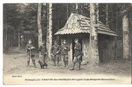 88 KIOSQUE DU TRAPIN DES SAULES VOSGES  LA BRIGADE FORESTIERE 1914 CPA 2 SCANS - France