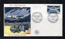 FDC - 1418 - Aéropostale De Nuit - 1960-1969