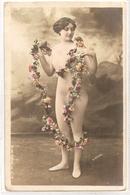 FF 740  OLD  FANTASY POSTCARD ,  FINE ART  , FEMALE FIGURATIVE , - Mujeres