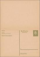 Ganzsache: P200 I, Mit Antwortkarte, Ungebraucht Als Doppelkarte - Germany