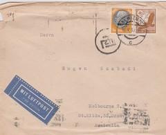 Germany 1939 Air Mail Cover Sent To Australia - Oblitérés