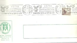 POSTMARKET 1977 ESPAÑA  CAMPO DE CRIPTANA   CERVANTES  EL QUIJOTE - Ecrivains