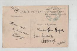 Royer Rue Seyssel Annonay Tampon 315 Régiment Territorial Pardon  1915 Gare De Mormant Arras Le Grand Escalier - Militari