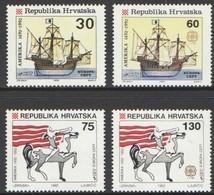 Cept  Europa 1992 Croatie Kroatie Hrvatska Yvertn° 169-172 *** MNH Cote 6,50 Euro - 1992