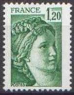 France N° 2101,** Sabine De Gandon - 1f20 Vert - Unused Stamps