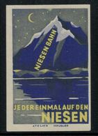 """Suisse // Schweiz // Switzerland // Erinnophilie // Vignette """"Niesenbahn* - Cinderellas"""