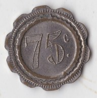 JETON ANCIEN FRANCE A CONSOMMER  75 CENTIMES TERRIER T2 - Professionali / Di Società