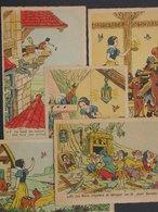 Ref6004 CPAx5 Walt Disney Blanche Neige Et Les Sept Nains - Superluxe Paris 1 - 5 - 6 - 22 - 23 - Disney