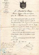 """MILITAIRE -- """"Diplome Délivré Par (Le Ministère De La Guerre)- - Documents Historiques"""