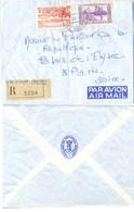NEW HEBRIDES NOUVELLES HEBRIDES VILA TàD 22.3.63 + VIGNETTE RECOMMANDÉ GARE D'AUSTERLITZ => PRÉSIDENT RÉPUBLIQUE - Lettres & Documents