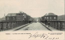 Tamines Le Pont Et La Route De Falisolle Circulée En 1903 - Sambreville