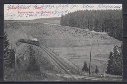 """Dt.Reich Fotokarte """" Benneckenstein (Harz) Harzerbahn Am Bollerberg """", Gelaufen Bahnpost-o 1920 - Trains"""