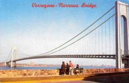 [DC12170] CPA - UNITED STATES - NEW YORK CITY - VERRAZZANO NARROWS BRIDGE - PERFETTA - Non Viaggiata - Ponts & Tunnels