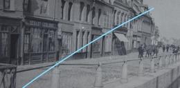 Photo SAINT OMER Pre 1914 Commerce Debasy Leblond Attelage Promeneurs Péniche Canal - Lieux