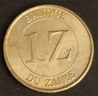 ZAIRE - 1 ZAIRE 1987 - Mobutu - KM 13 - Zaire (1971-97)