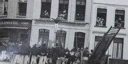 Photo SAINT OMER Pre 1914 Commerce Bolangerie Bogaert Démonstration Pompier Brandweer - Lieux