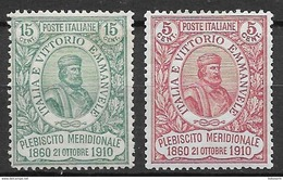 Italy - Italia 1910 Complete Set - Nuovi