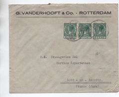 1928 - ENVELOPPE De ROTTERDAM Pour LONS LE SAUNIER (JURA) - Poststempel