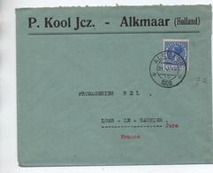 1928 - ENVELOPPE De ALKMAAR Pour LONS LE SAUNIER (JURA) - Poststempel