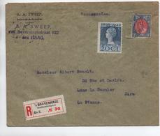 1923 - ENVELOPPE RECOMMANDEE De 'S GRAVENHAGE Pour LONS LE SAUNIER (JURA) - Poststempel