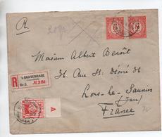 1924 - ENVELOPPE RECOMMANDEE De 'S GRAVENHAGE Pour LONS LE SAUNIER (JURA) - Poststempel