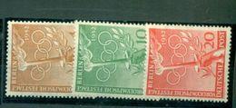 Berlin, Olympische Spiele Nr. 88 - 90 Postfrisch ** - Nuovi