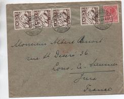 1924 - ENVELOPPE De VLISSINGEN Pour LONS LE SAUNIER (JURA) - Poststempel