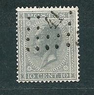 [17_0003] Zegel 17A Met Puntstempel 41 Binche Scan Voor- En Achterzijde - 1865-1866 Profile Left