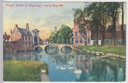 (42212) AK Bruges, Brügge, Eingang Beginenhof, Feldpost 1915 - Unclassified