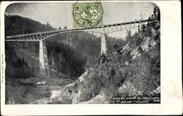 Cp Villars-sur-Ollon Kanton Waadt, Pont Du Chemin De Fer Electrique Gryon Villars - VD Vaud