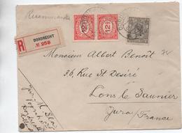 1922 - ENVELOPPE De DODRECHT Pour LONS LE SAUNIER (JURA) - Poststempel